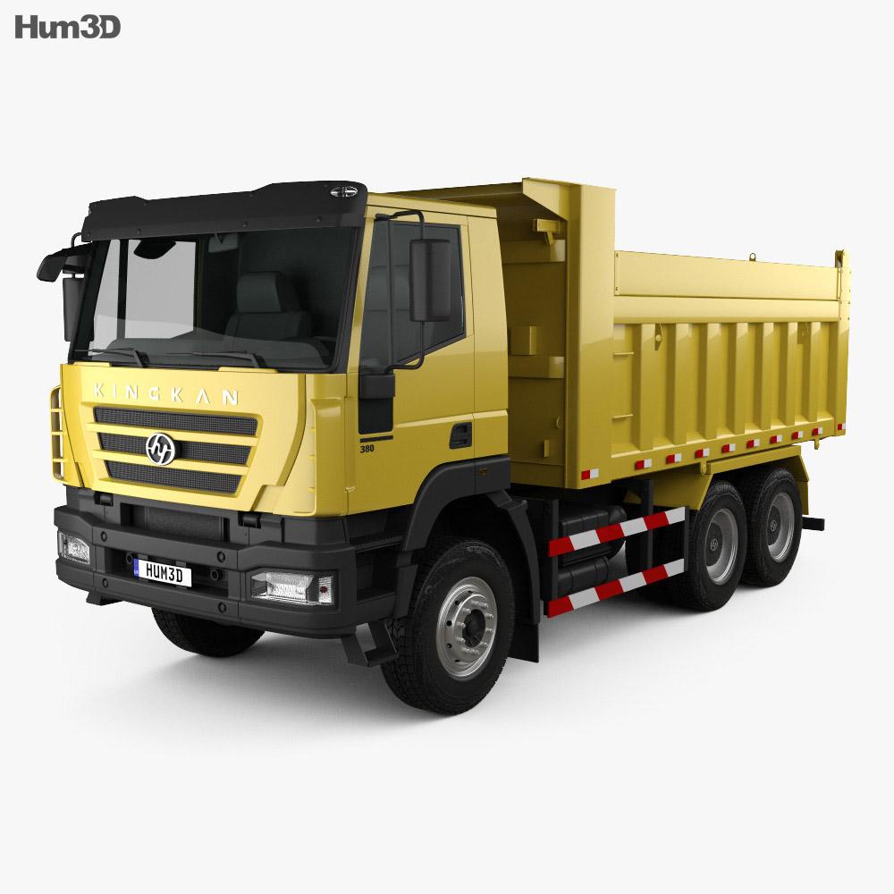 Hongyan Kingkan Powerforce 380 Dump Truck 3-axle 2011 3d model