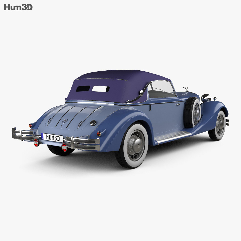 Horch 853 A Sport Cabriolet 1935 3d model