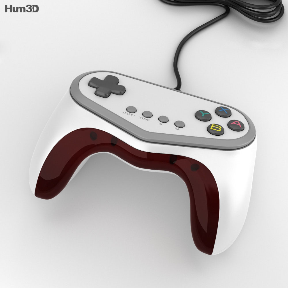 Hori Pokken Tournament Pro Pad Controller 3d model