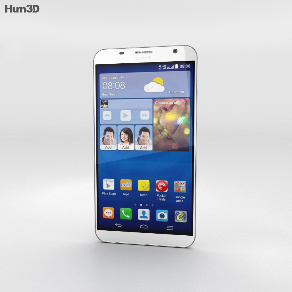 Huawei Ascend GX1 White 3d model