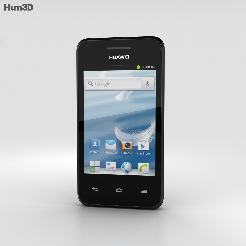 Huawei Ascend Y220 Black 3d model