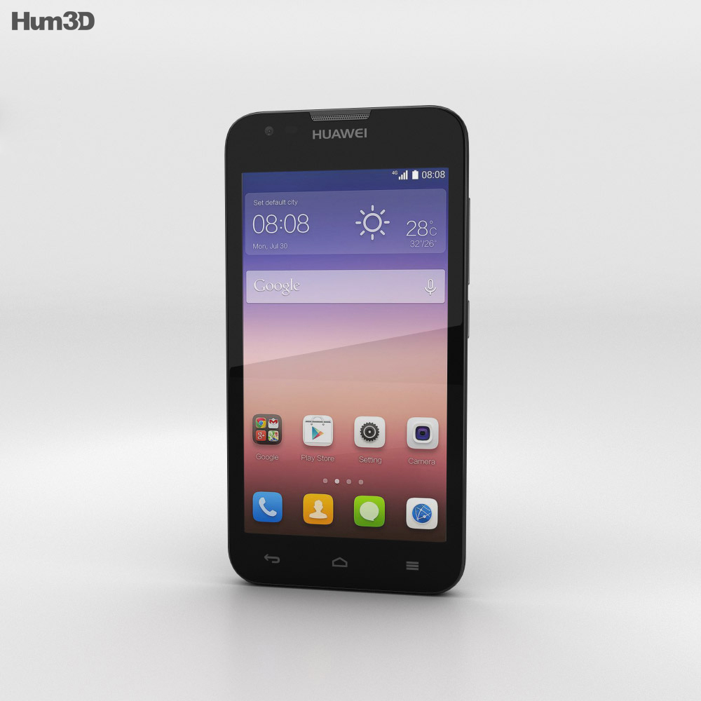 Huawei Ascend Y550 Black 3d model