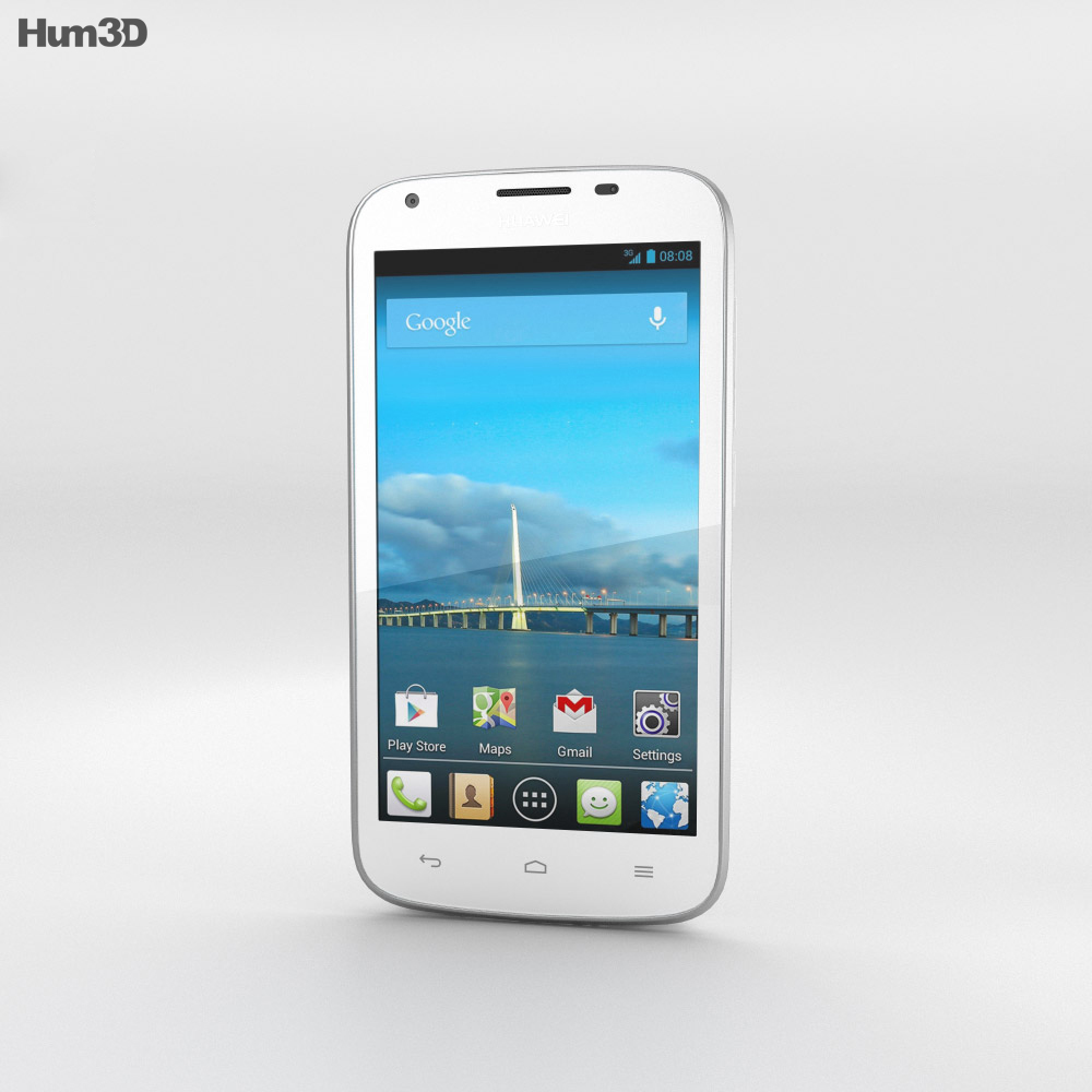 Huawei Ascend Y600 White 3d model