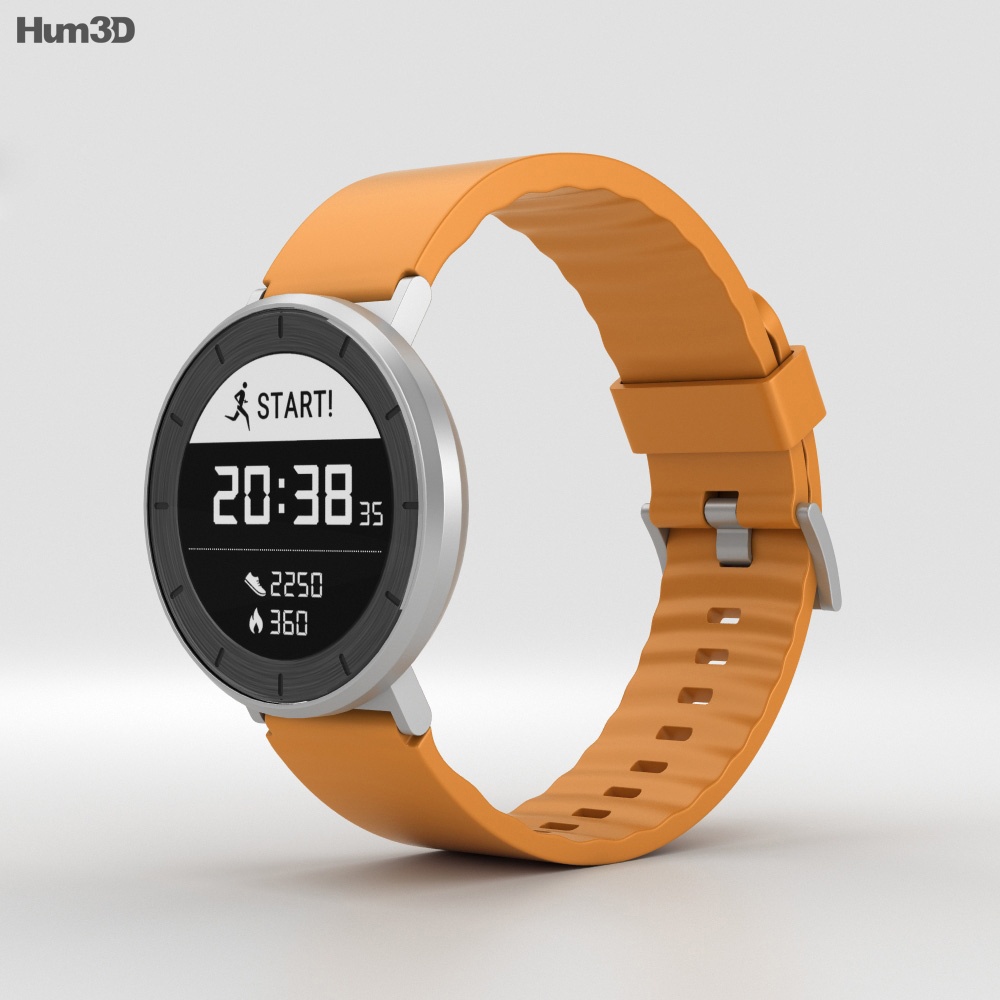 3D model of Huawei Fit Silver with Orange Band