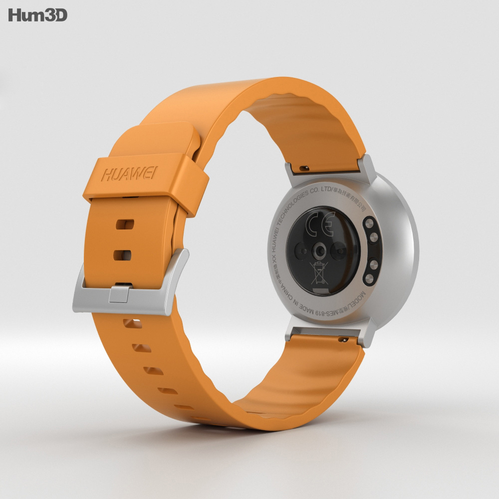 Huawei Fit Silver with Orange Band 3d model