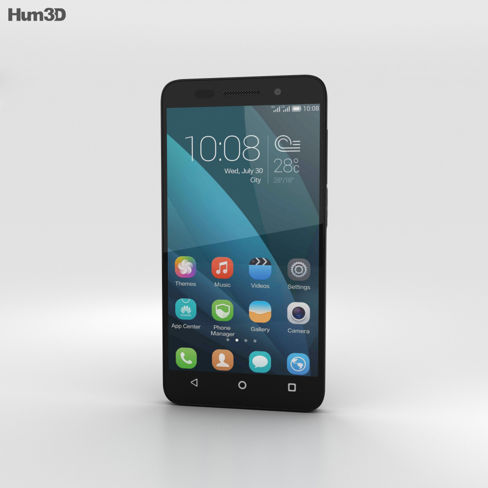 Huawei Honor 4X Black 3d model