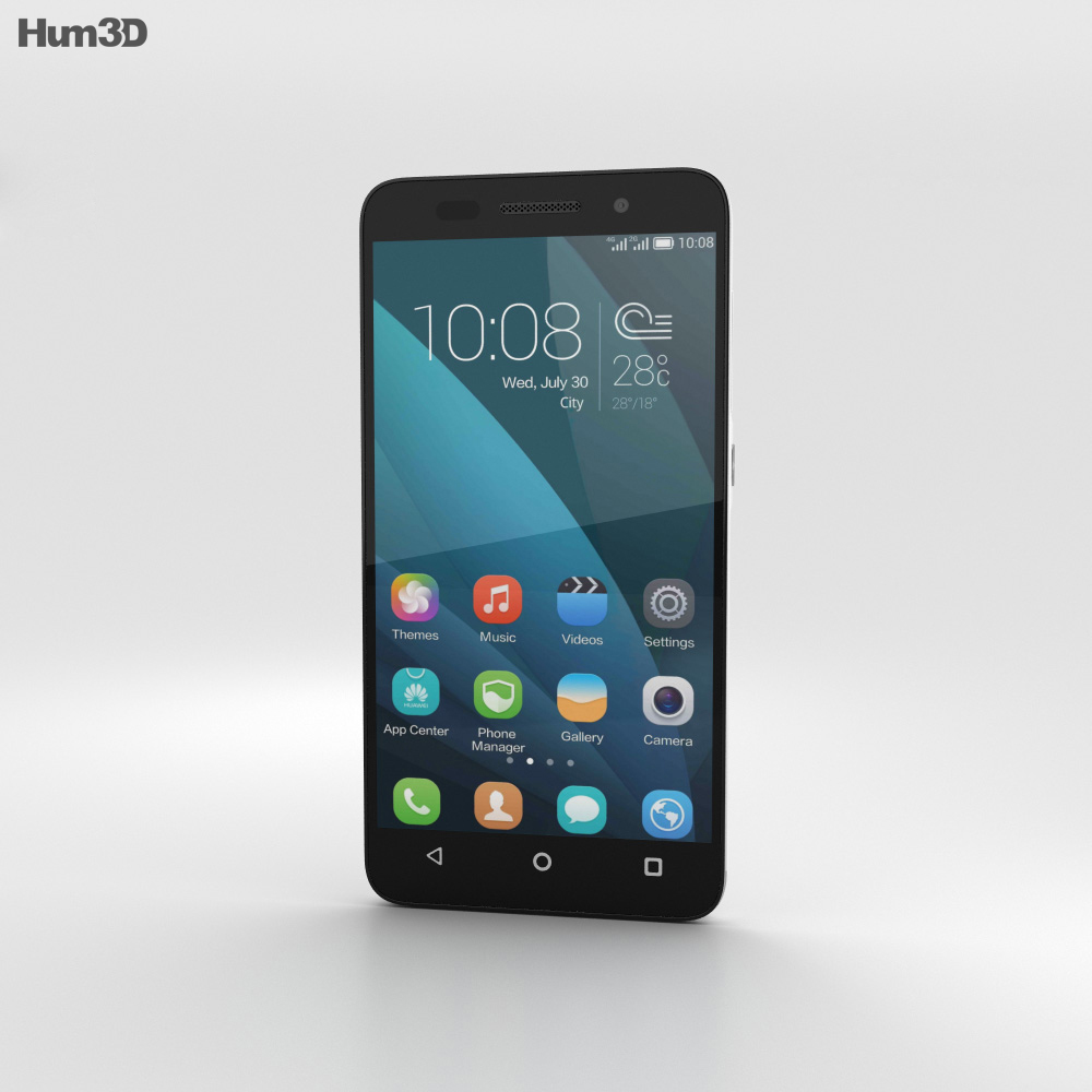 Huawei Honor 4X White 3d model