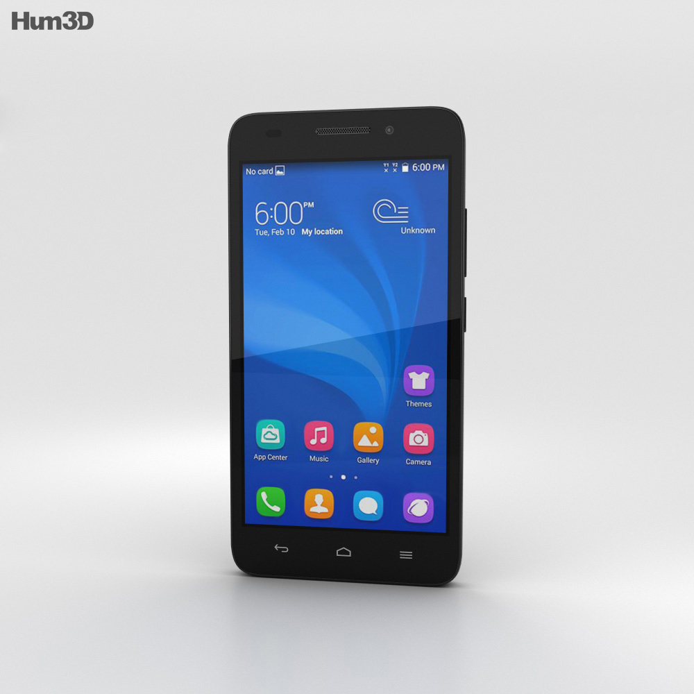 Huawei Honor 4 Play Black 3d model