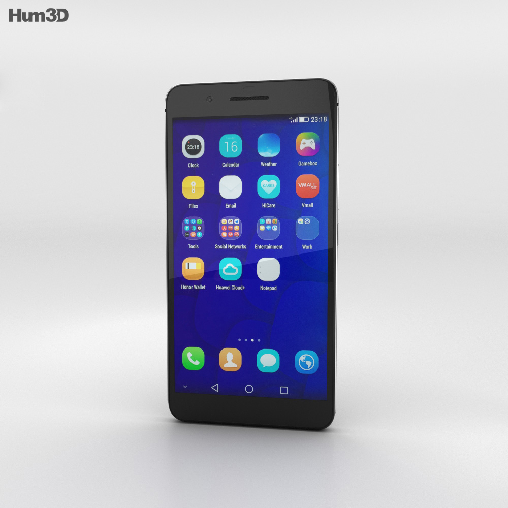 Huawei Honor 6 Plus Black 3d model