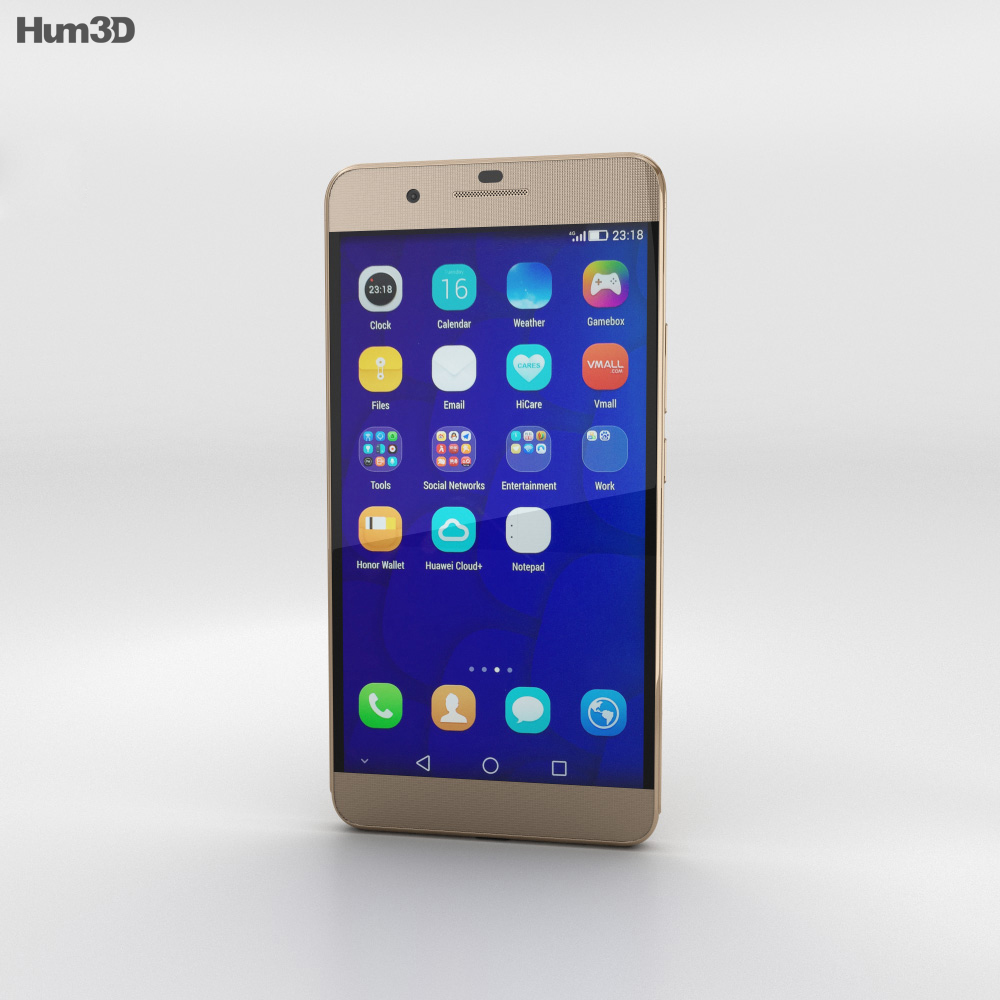 Huawei Honor 6 Plus Gold 3d model