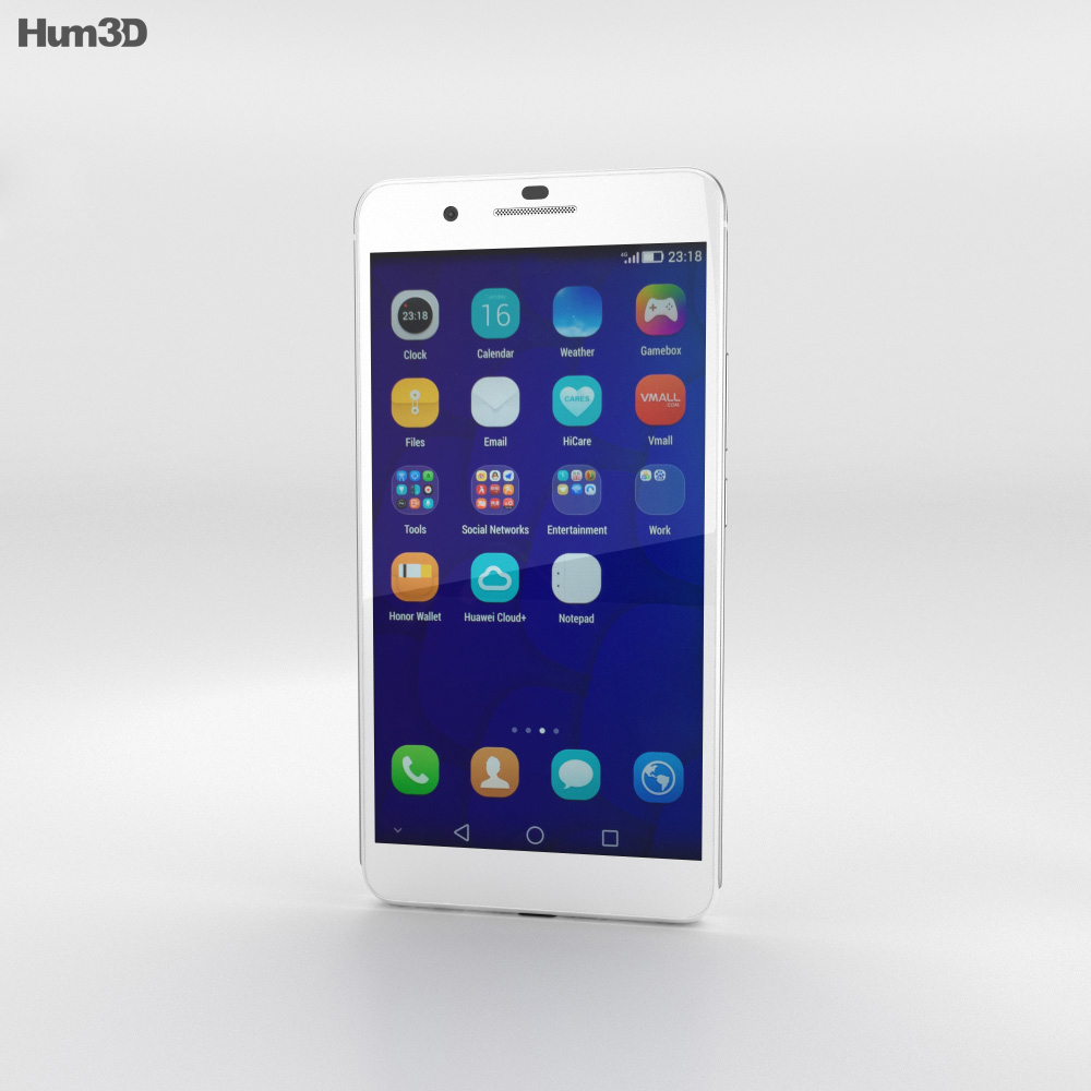 Huawei Honor 6 Plus White 3d model