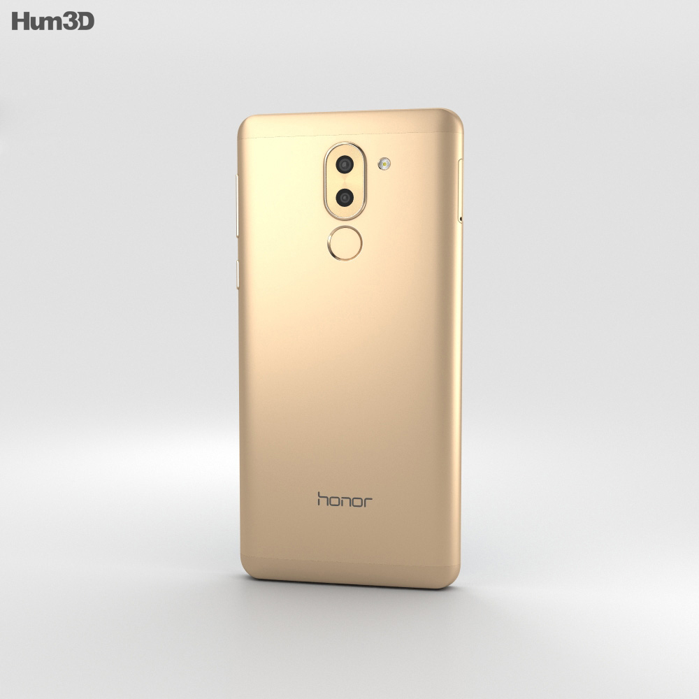 Huawei Honor 6x Gold 3d model