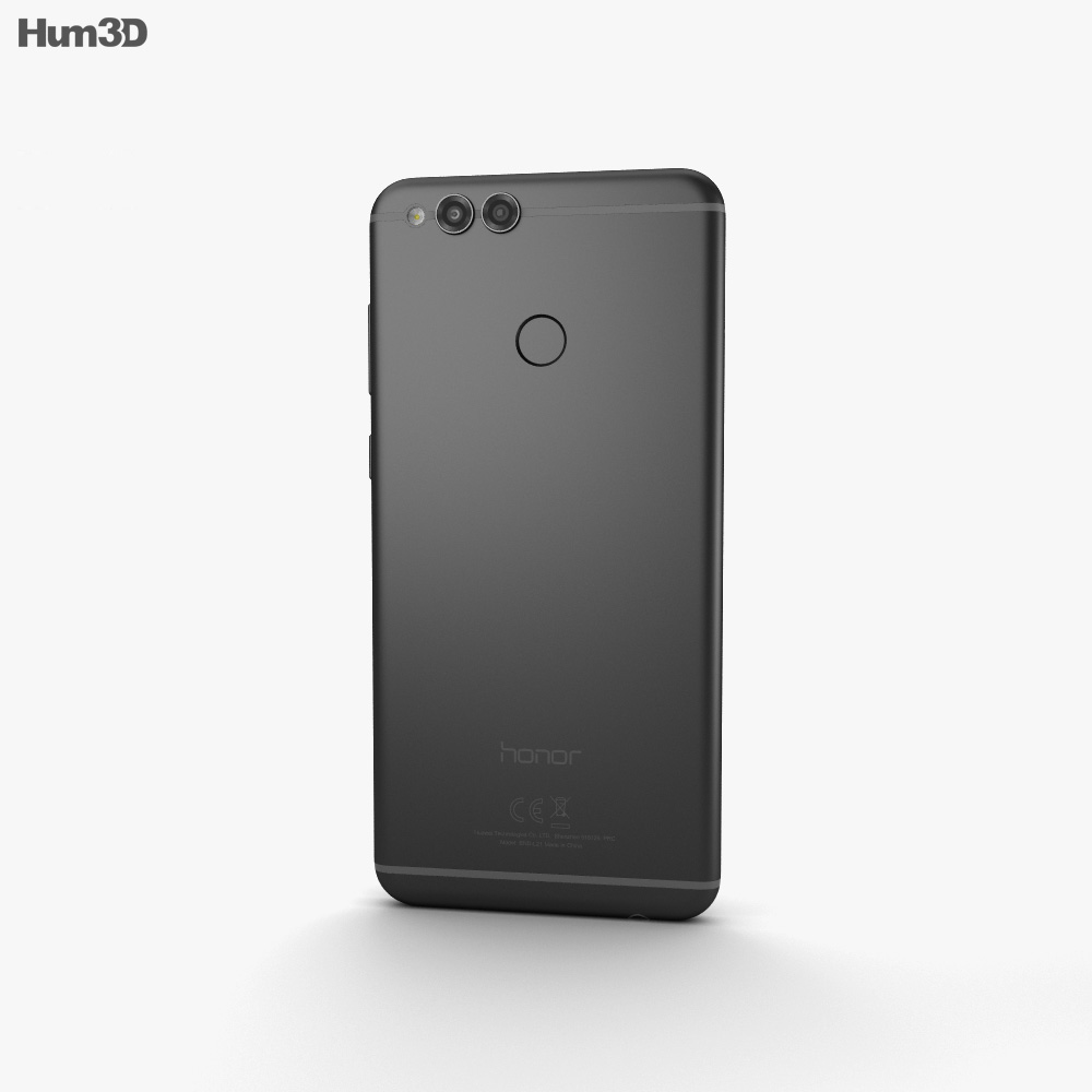 Huawei Honor 7X Black 3d model