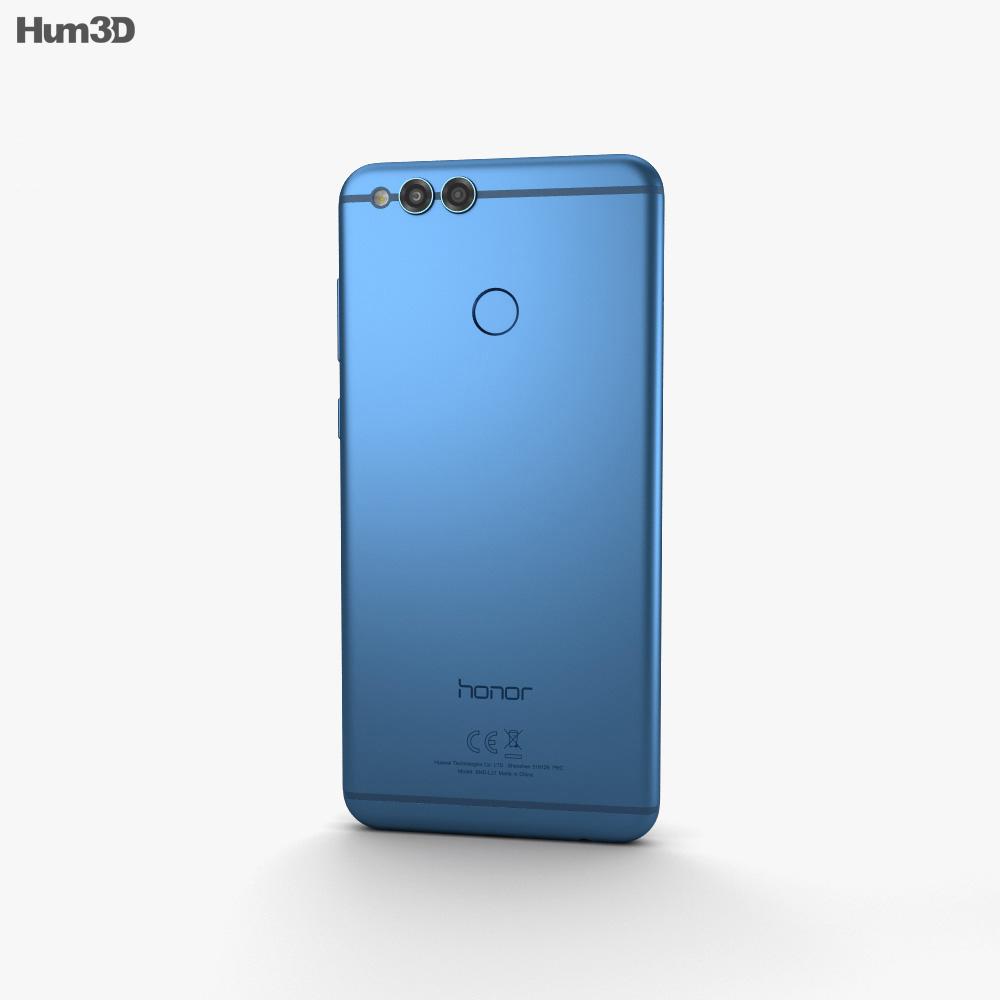 Huawei Honor 7X Blue 3d model