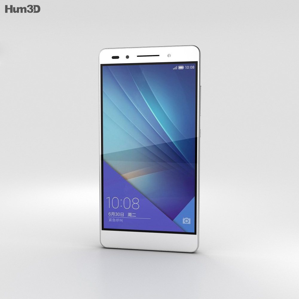 Huawei Honor 7 White 3d model