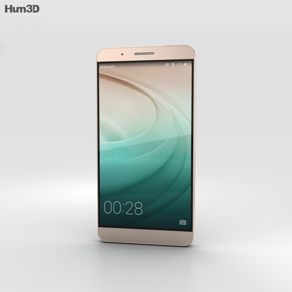 Huawei Honor 7i Gold 3d model