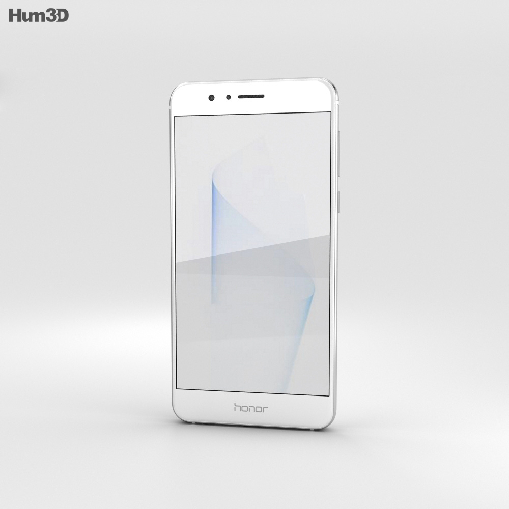 Huawei Honor 8 Pearl White 3d model