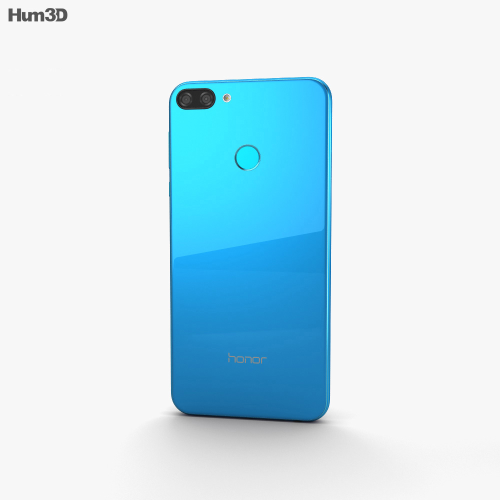 Huawei Honor 9N Blue 3d model