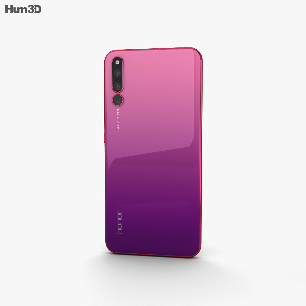 Honor Magic 2 Gradient Red 3d model