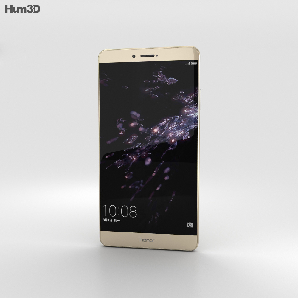 Huawei Honor Note 8 Gold 3d model