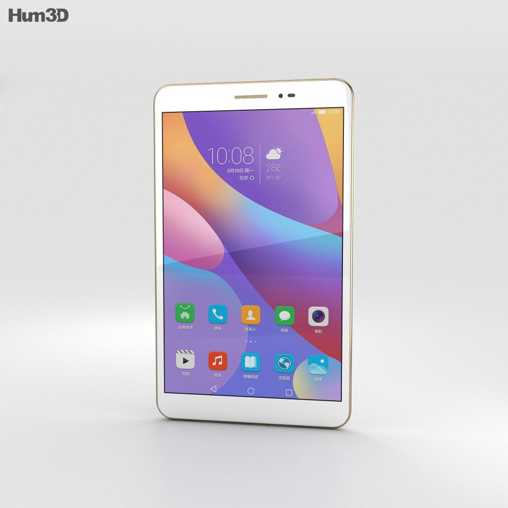 Huawei Honor Pad 2 White 3d model