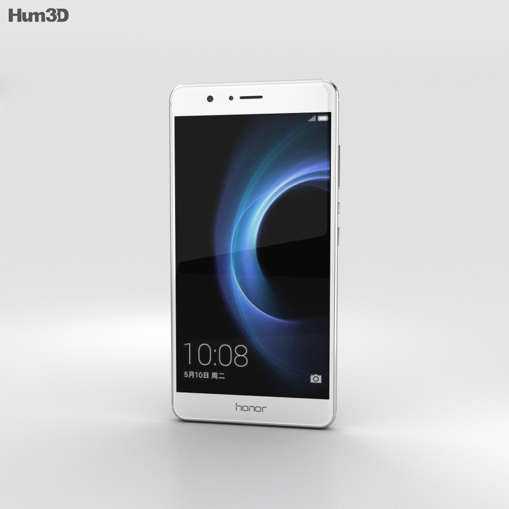 Huawei Honor V8 Silver 3d model
