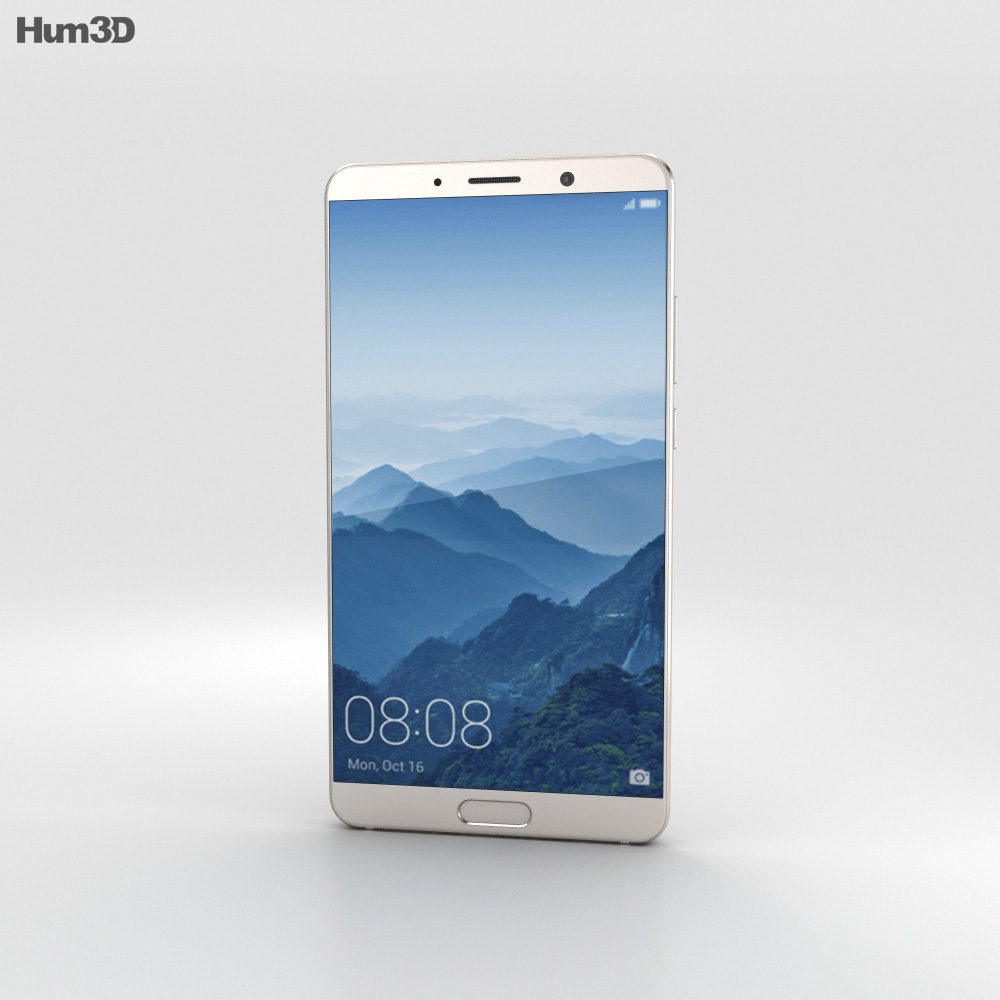 Huawei Mate 10 Champagne Gold 3d model