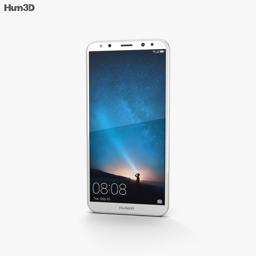 Huawei Mate 10 Lite Prestige Gold 3d model
