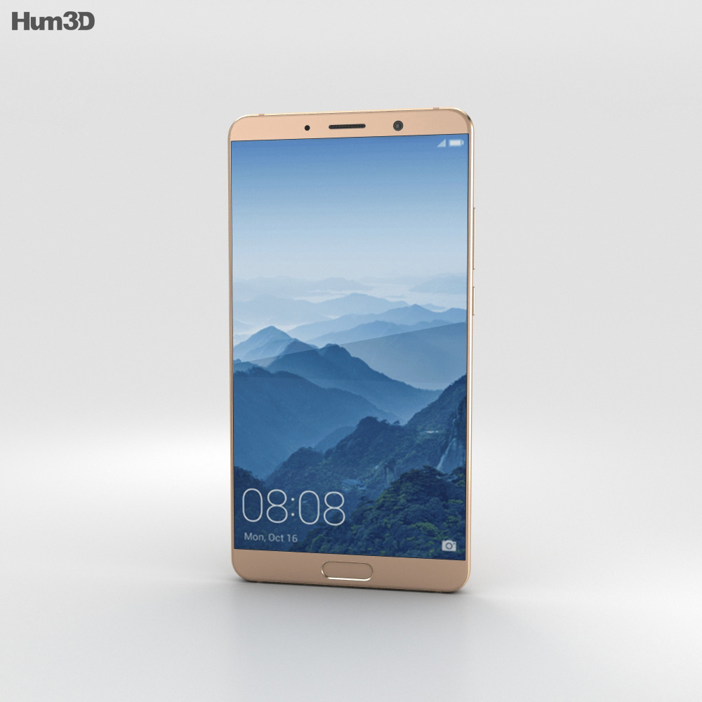 Huawei Mate 10 Mocha Brown 3d model