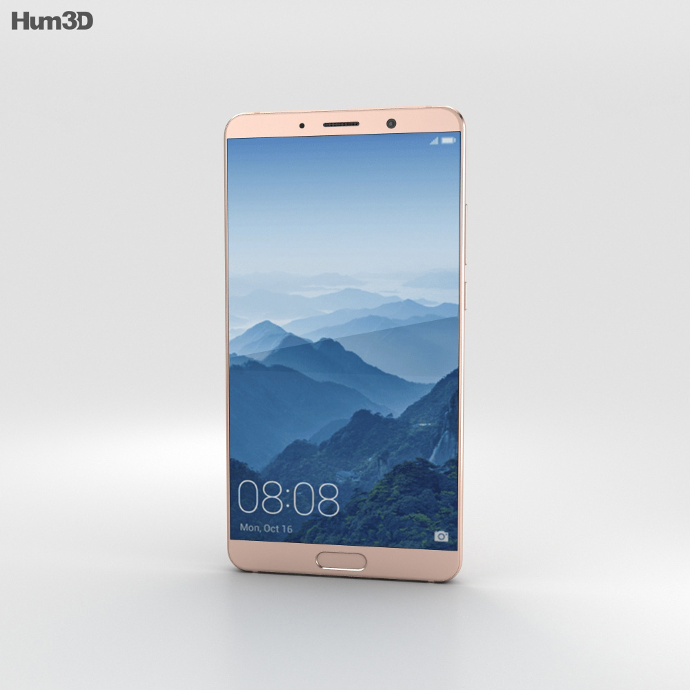 Huawei Mate 10 Pink Gold 3d model