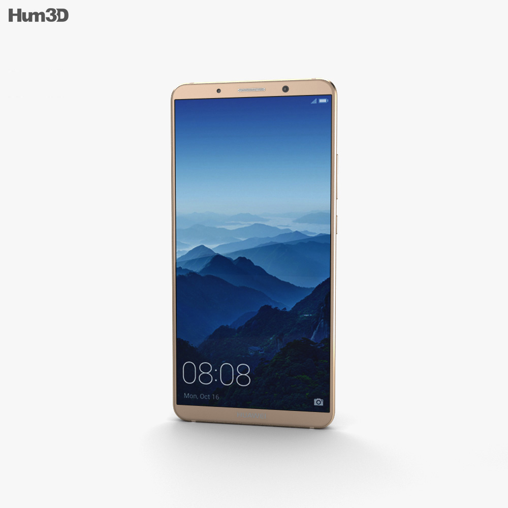 Huawei Mate 10 Pro Mocha Brown 3d model