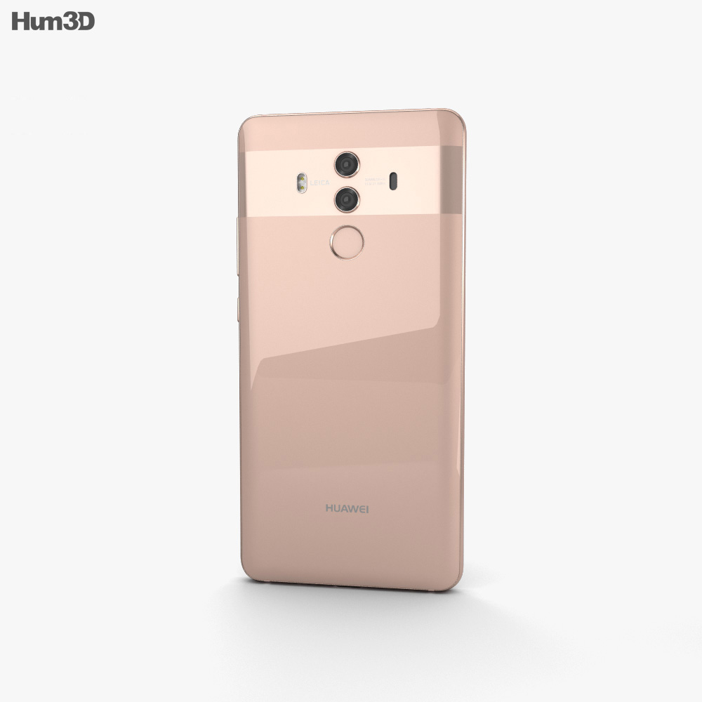 Huawei Mate 10 Pro Pink Gold 3d model