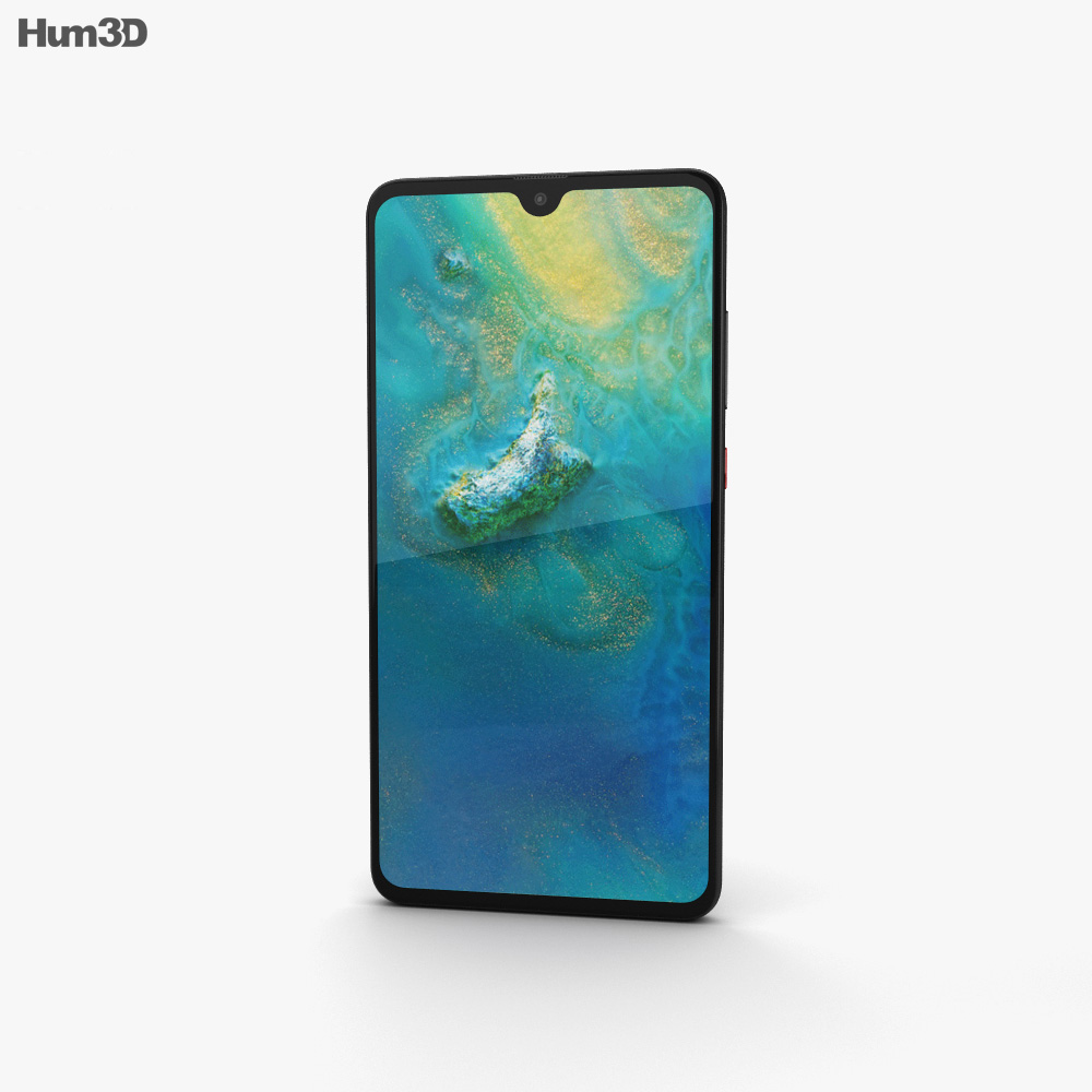 Huawei Mate 20 Black 3d model
