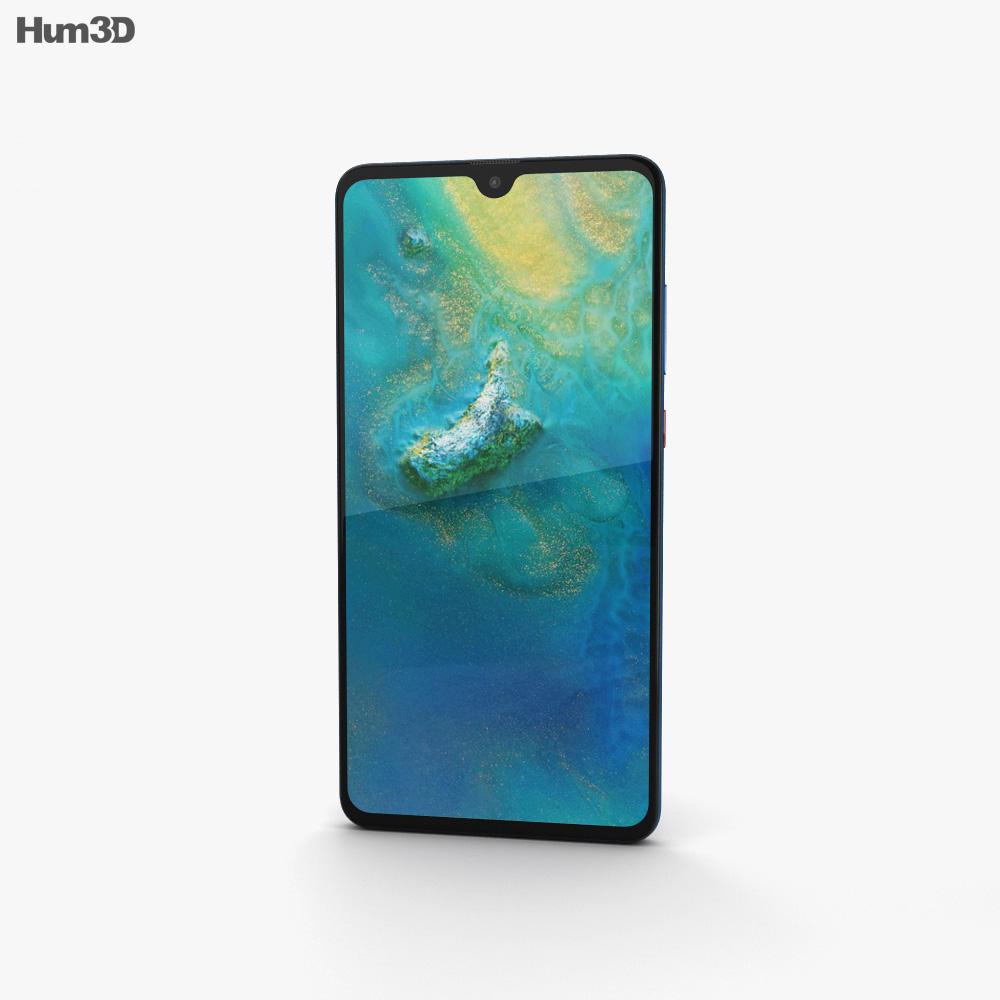 Huawei Mate 20 Midnight Blue 3d model
