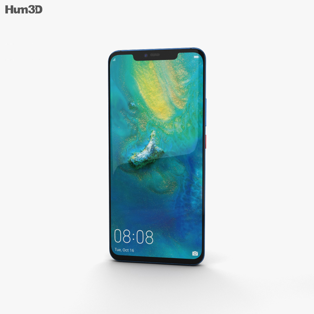 Huawei Mate 20 Pro Midnight Blue 3d model