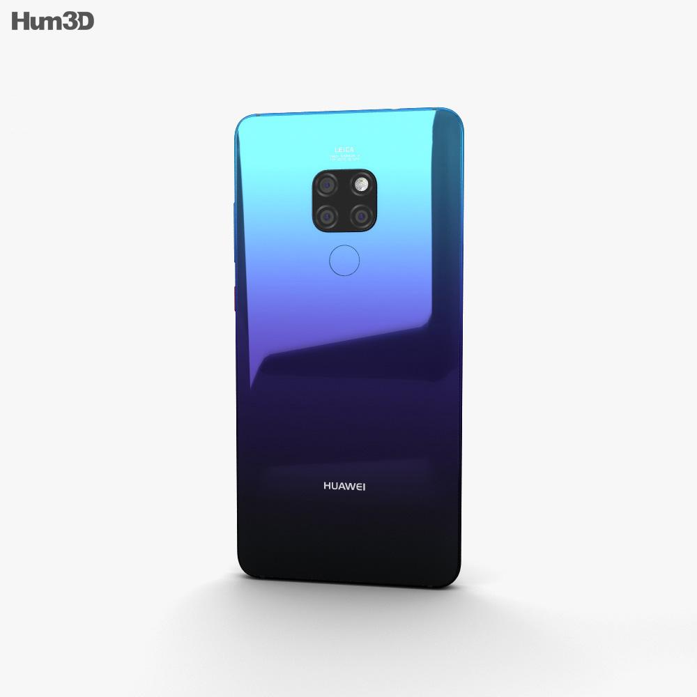 Huawei Mate 20 Twilight 3d model