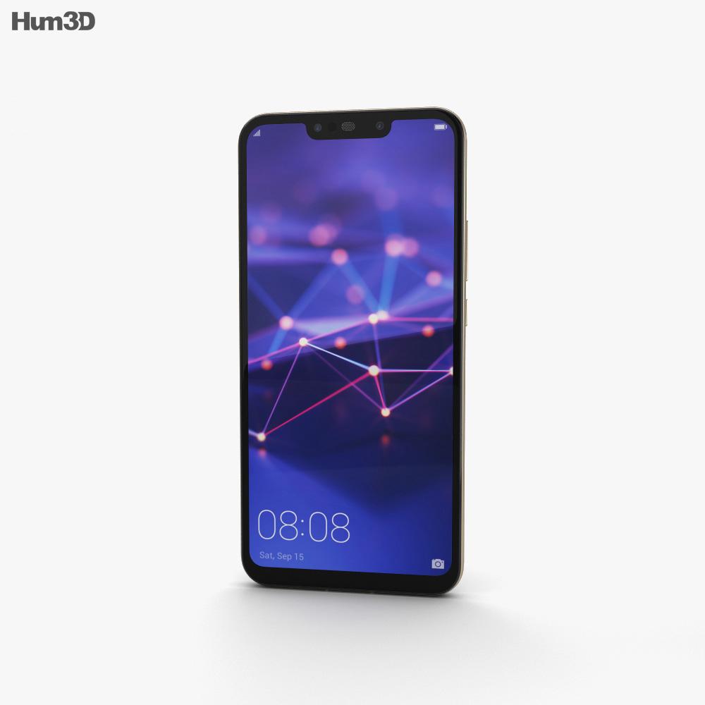 Huawei Mate 20 lite Platinum Gold 3d model
