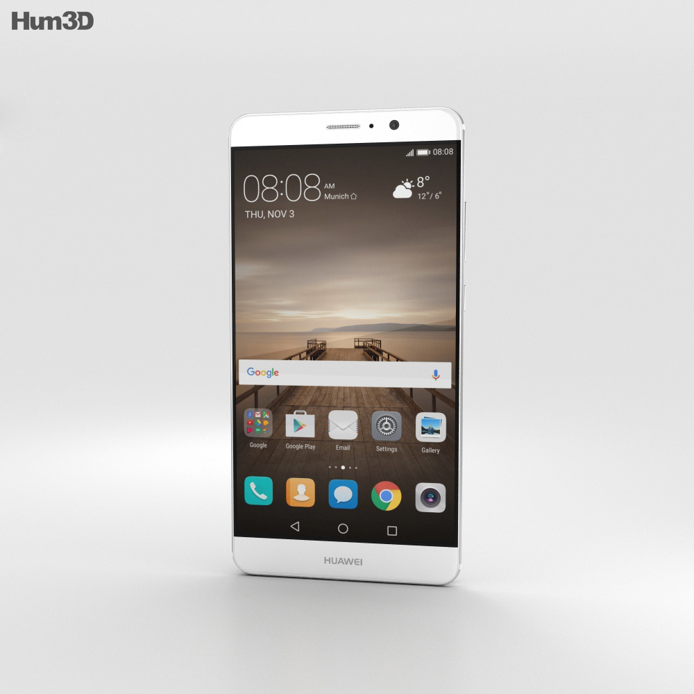 Huawei Mate 9 Ceramic White 3d model
