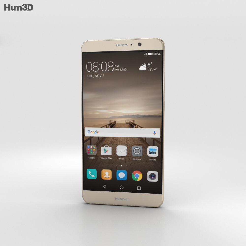 Huawei Mate 9 Champagne Gold 3d model