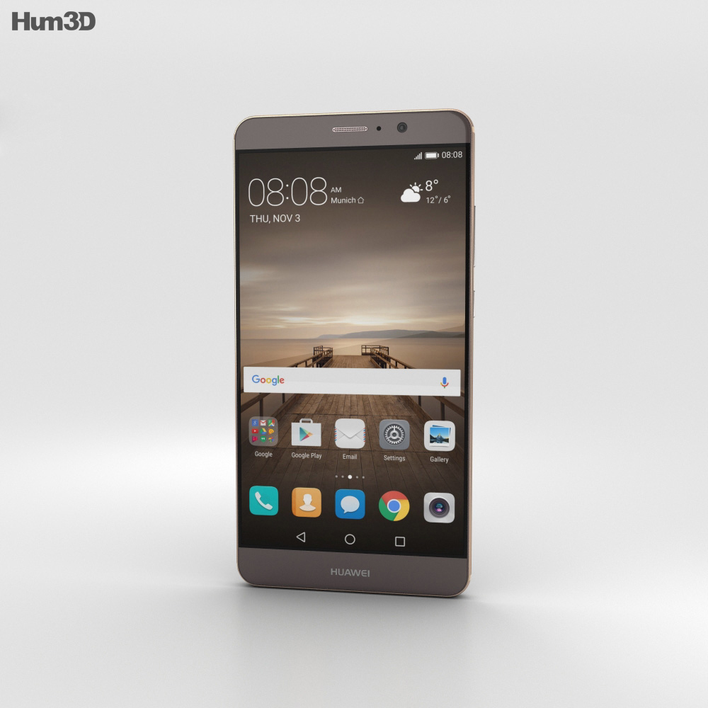 Huawei Mate 9 Mocha Brown 3d model