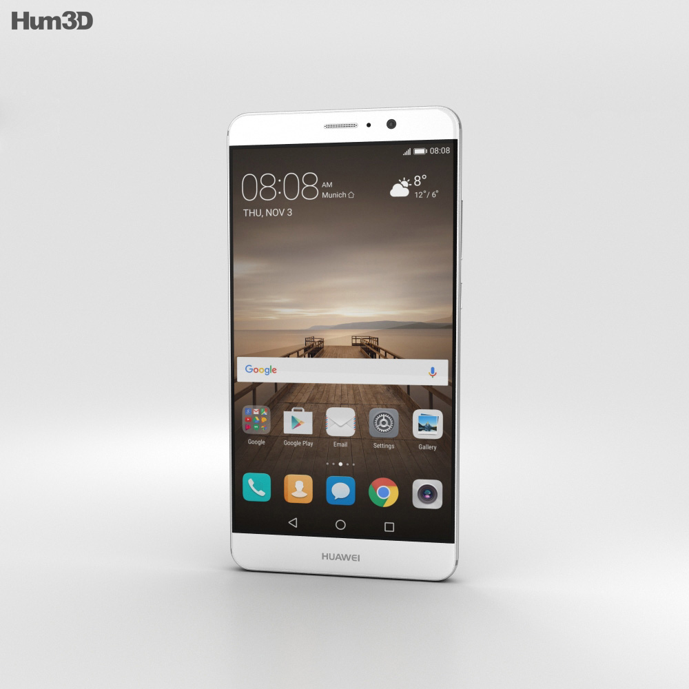 Huawei Mate 9 Moonlight Silver 3d model