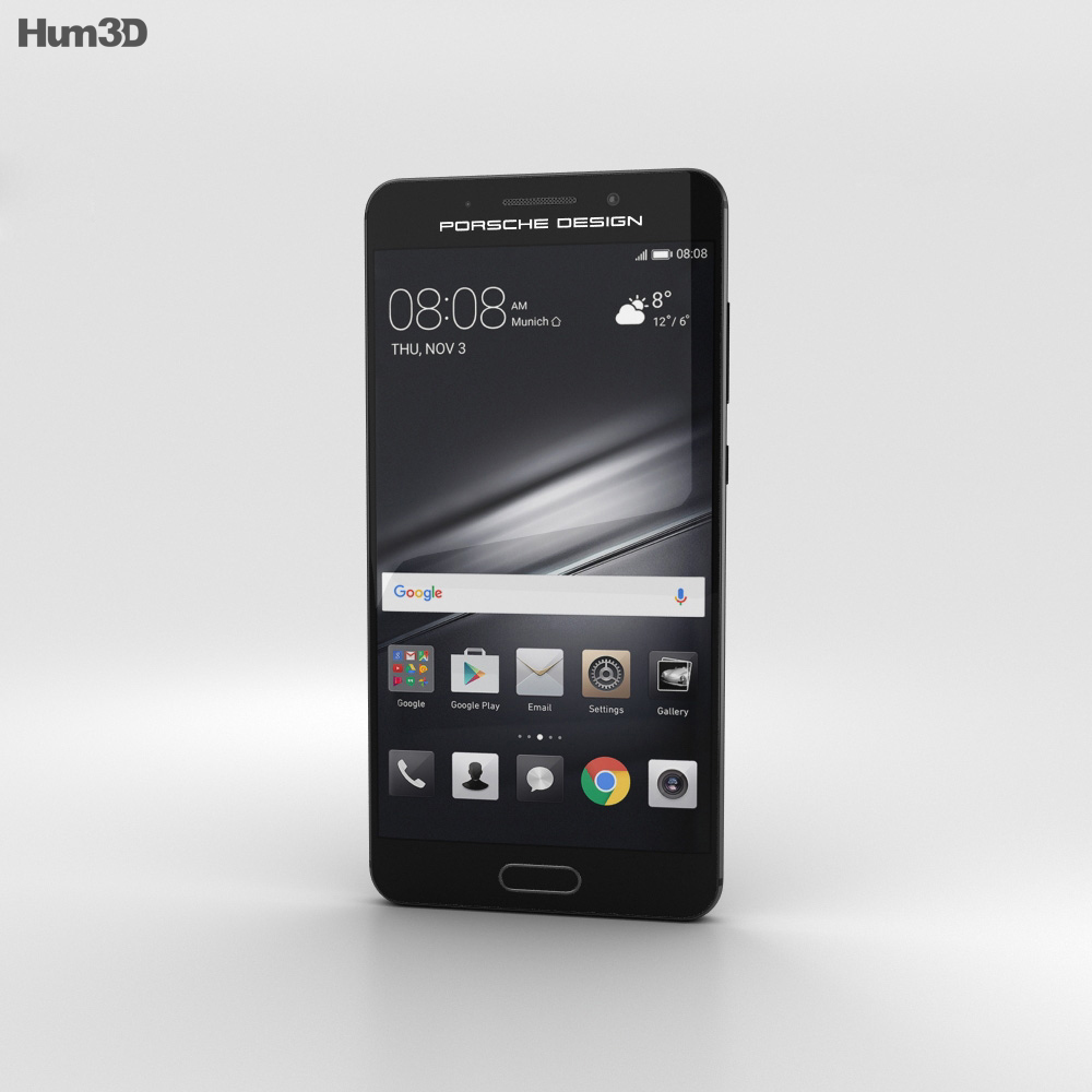 Huawei Mate 9 Porsche Design Graphite Black 3d model