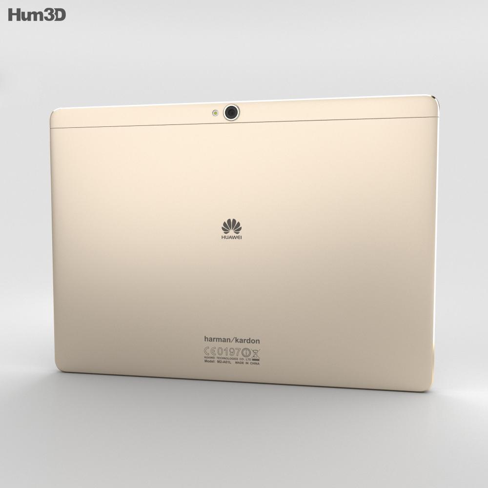 Huawei MediaPad M2 10-inch Luxurious Gold 3d model