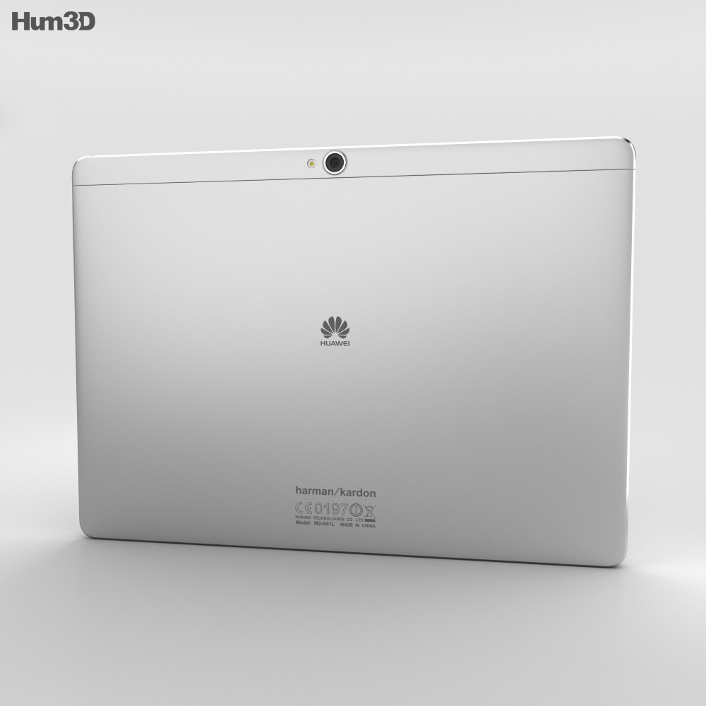 Huawei MediaPad M2 10-inch Moonlight Silver 3d model