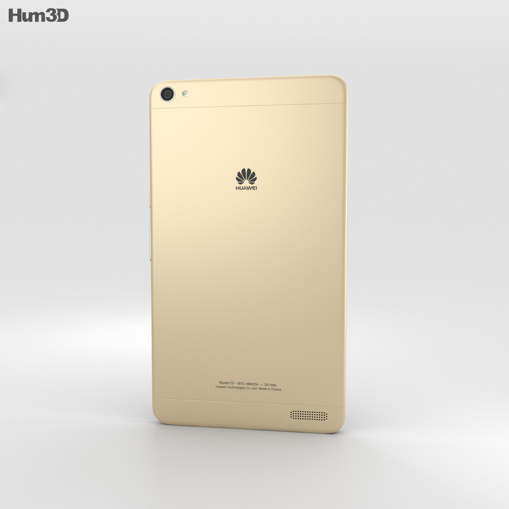 Huawei MediaPad X2 Amber Gold 3d model