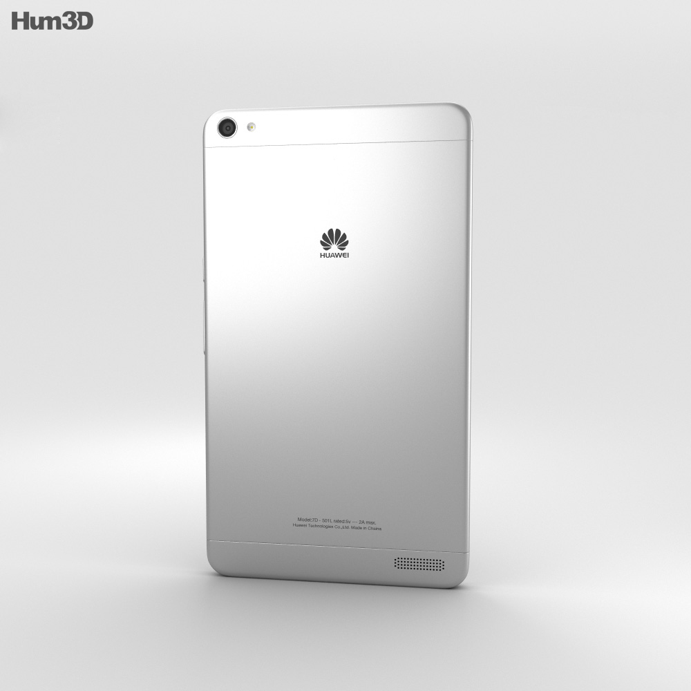Huawei MediaPad X2 Moonlight Silver 3d model
