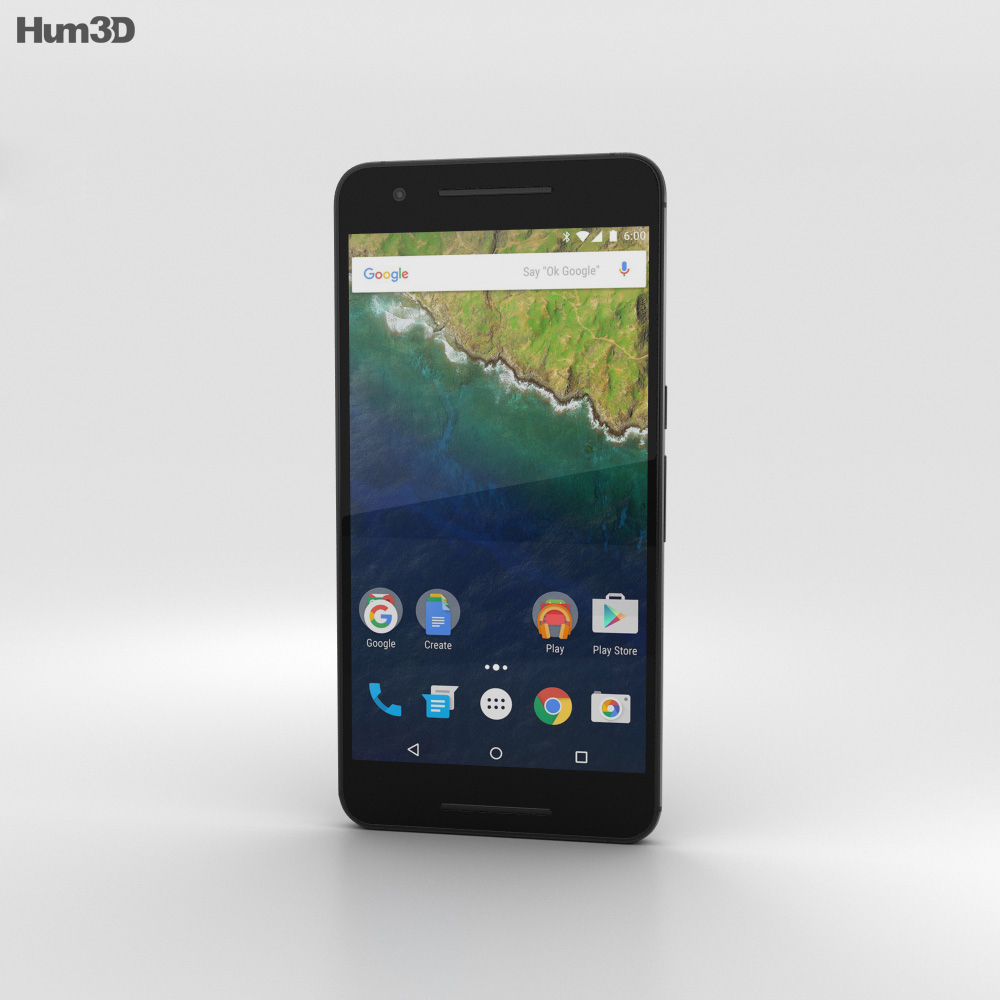 Huawei Nexus 6P Graphite 3d model