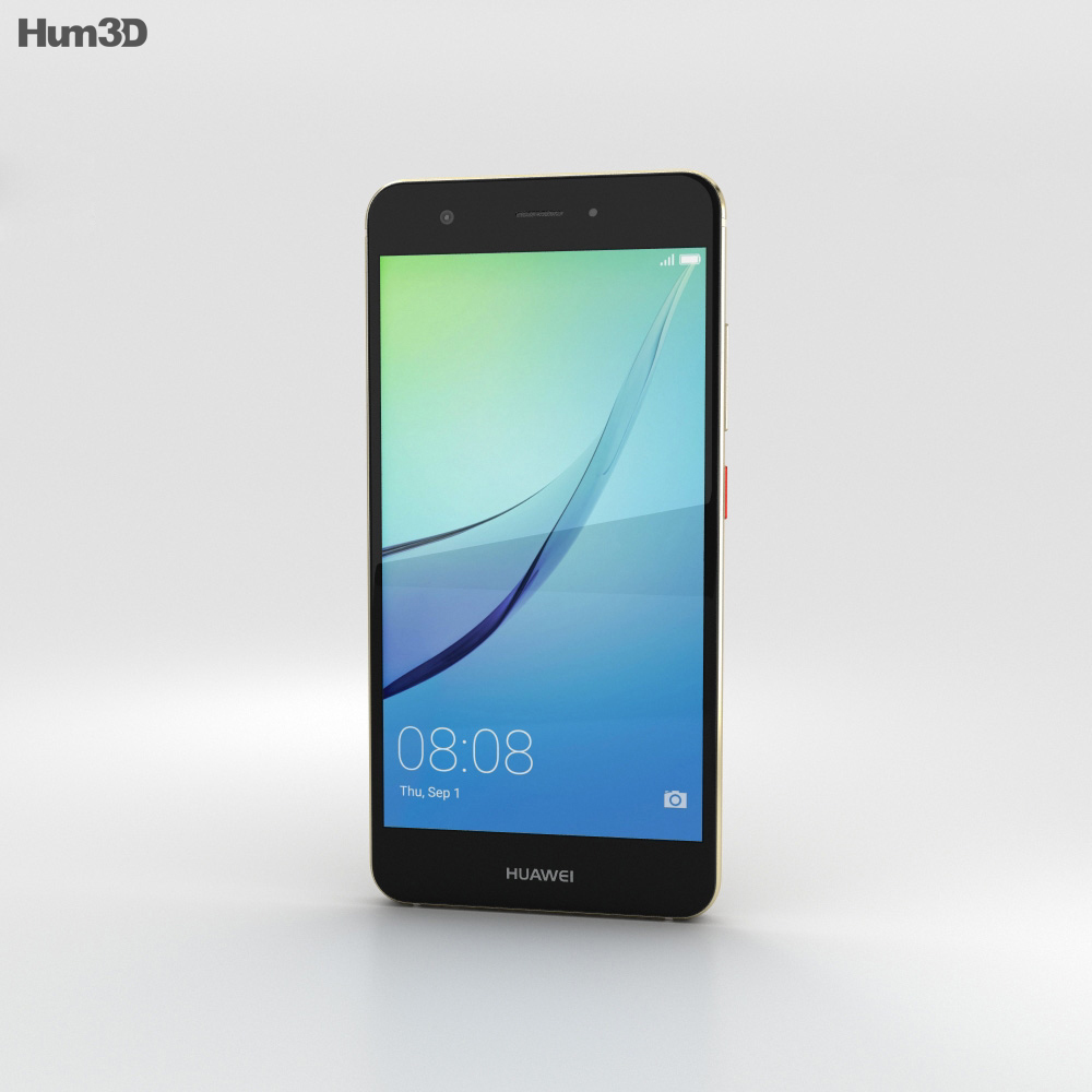 Huawei Nova Prestige Gold 3d model