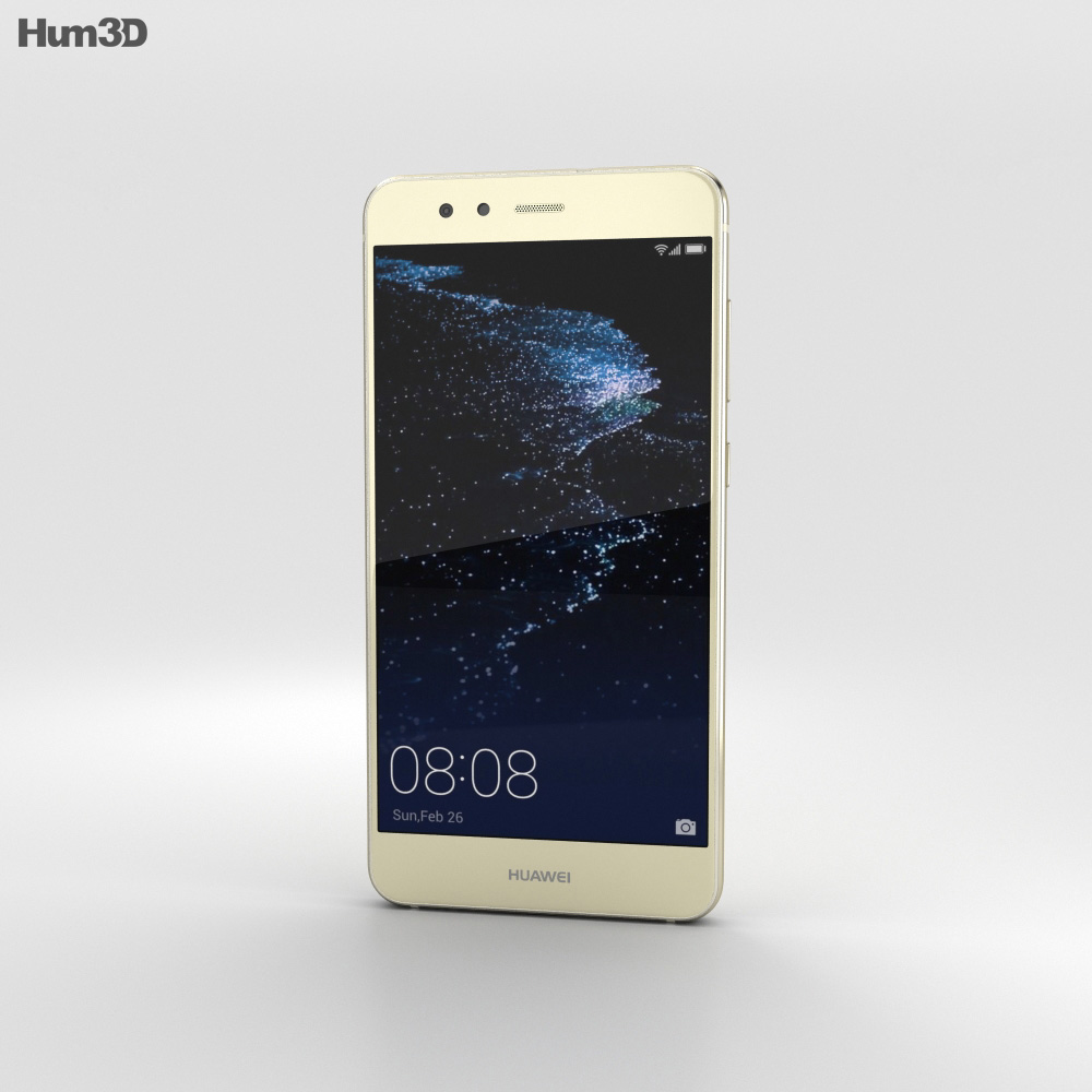 Huawei P10 Lite Platinum Gold 3d model