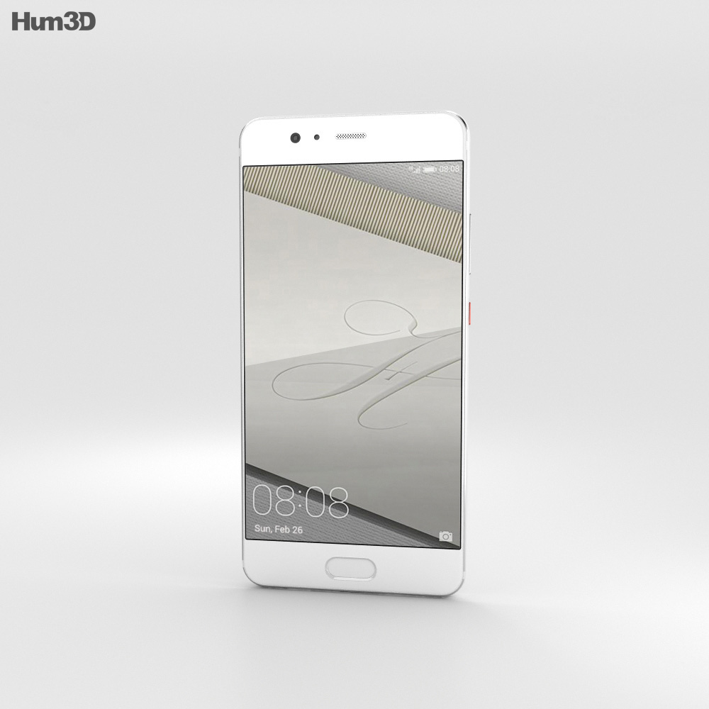 Huawei P10 Plus Ceramic White 3d model